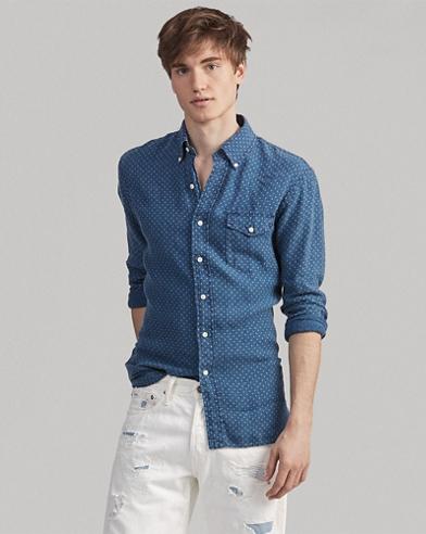 Classic Fit Star Linen Shirt