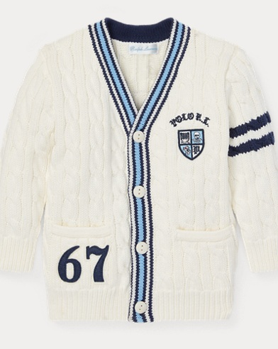 Cardigan de cricket en coton