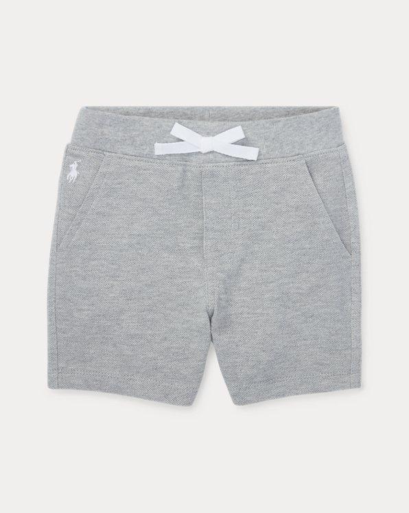 Cotton Mesh Pull-On Short