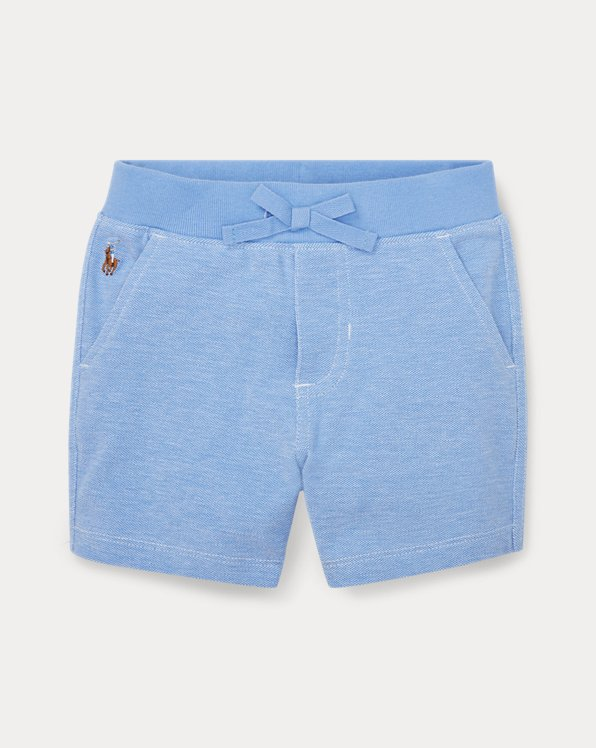 Short en coton Oxford piqué