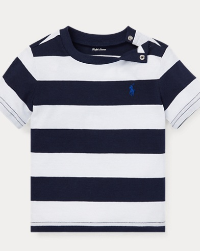 Striped Cotton Jersey Tee. Baby Boy