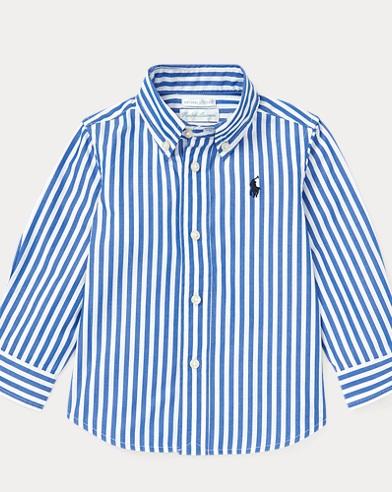 Camisa de algodón de rayas bengalíes
