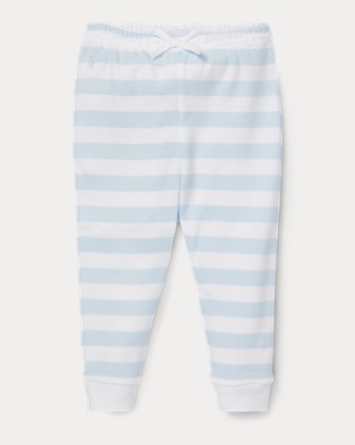 Striped Cotton Pull-On Pant
