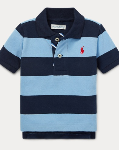 eaf43cb50 Striped Cotton Mesh Polo Shirt. 50% OFF. Baby Boy