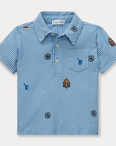 Featherweight Graphic Polo