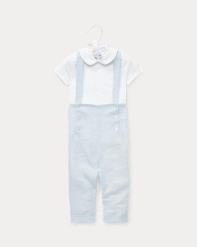 Bodysuit & Linen Overall Set