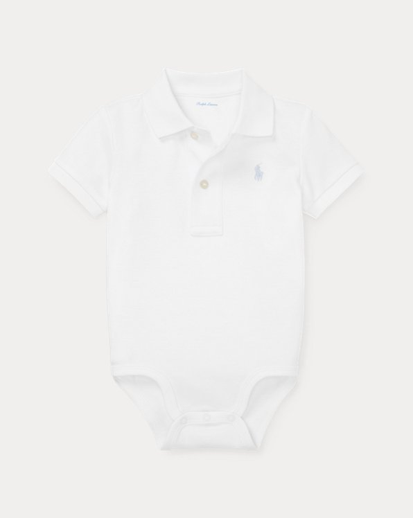 Soft Cotton Polo Bodysuit