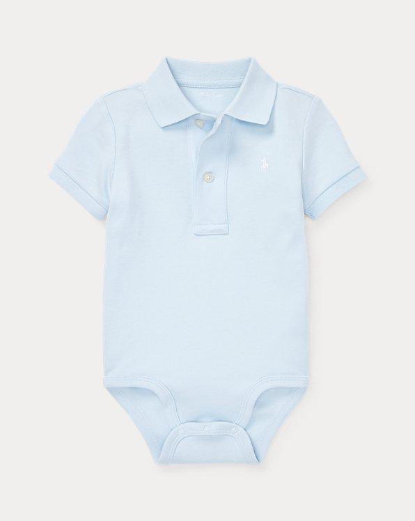 Body polo bébé interlock de coton