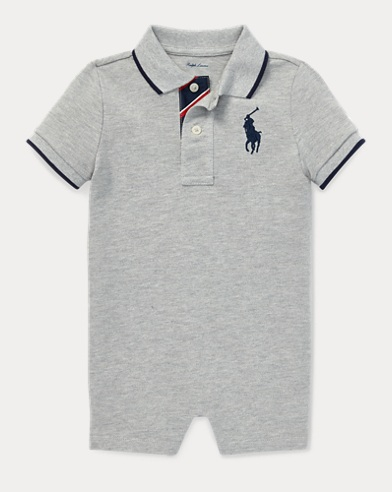 80e11bb42f1d Cotton Mesh Polo Shortall. Take 30% Off. Baby Boy. Cotton Mesh Polo Shortall