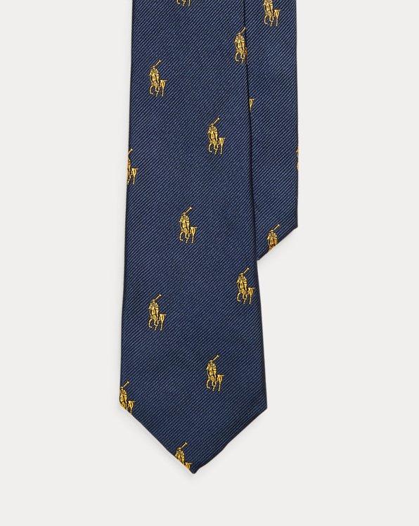 Corbata de seda con caballo Polo