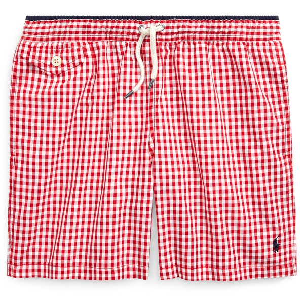 Vintage Men's Swimsuits – 1930s to 1970s History Traveller Gingham Swim Trunks �49.00 AT vintagedancer.com