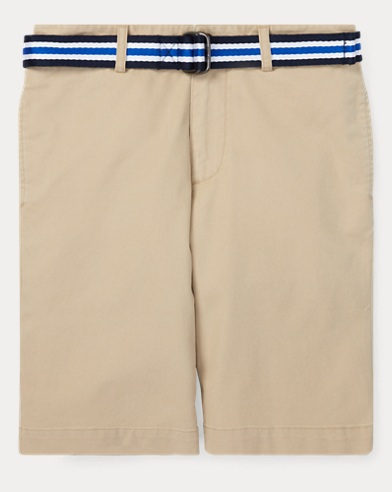 Slim-Fit Stretch-Shorts mit Gürtel