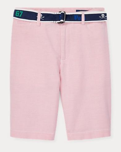 Slim-Fit Stretch-Shorts mit Gürtel