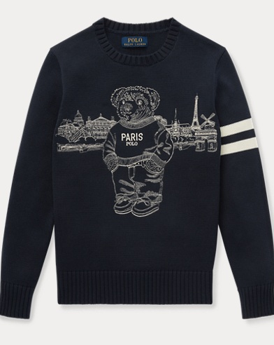 Paris Polo Bear Cotton Jumper