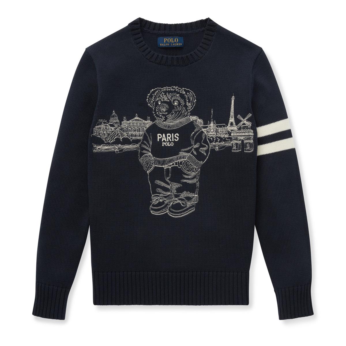 2d1885ec8eb86 Paris Polo Bear Cotton Jumper