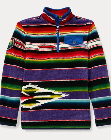Serape Fleece Pullover