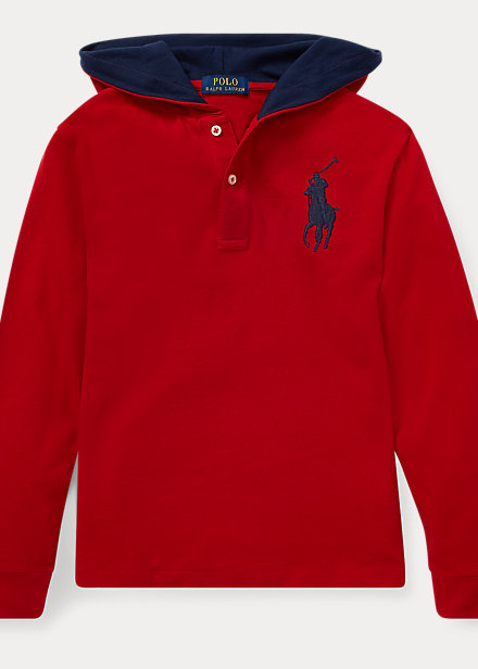 Polo RalphLauren Big Pony Cotton Hooded Tee