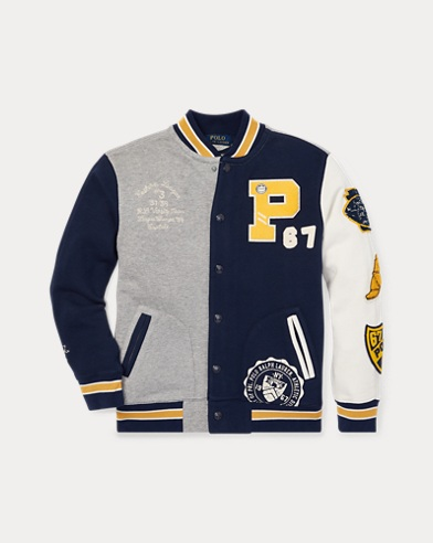 Twill Terry Letterman Jacket
