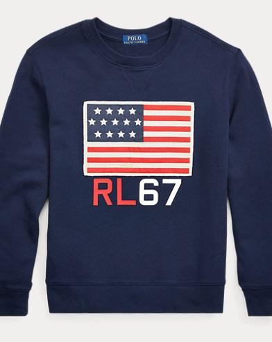 Flag Cotton Terry Sweatshirt