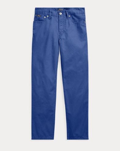 Slim Fit Cotton Poplin Trousers