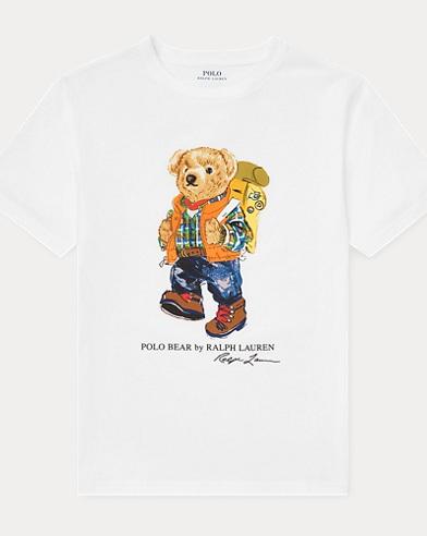 T-shirt en coton ourson campeur