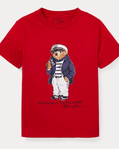 T-shirt en coton ourson capitaine