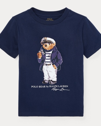 Maglietta in cotone Nautical Bear