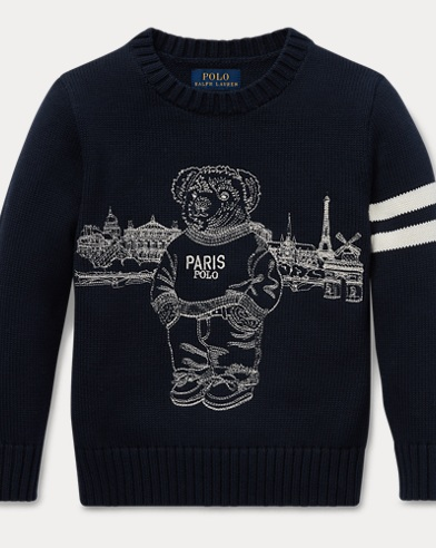 Pull Polo Bear Paris en coton
