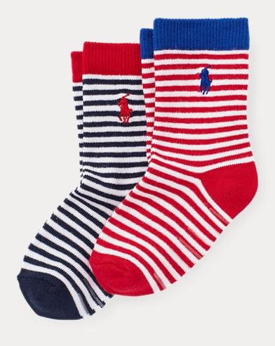 Striped Crew Sock 2-Pack