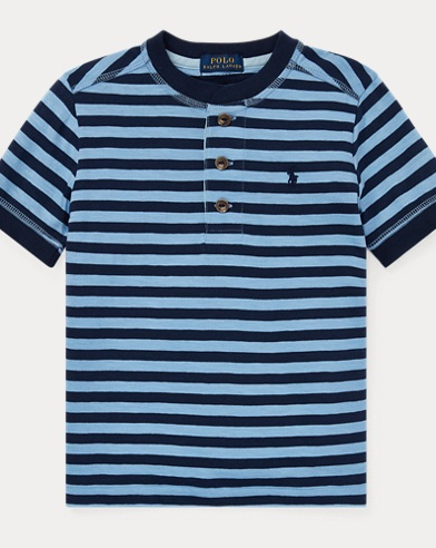 Striped Cotton Jersey Henley