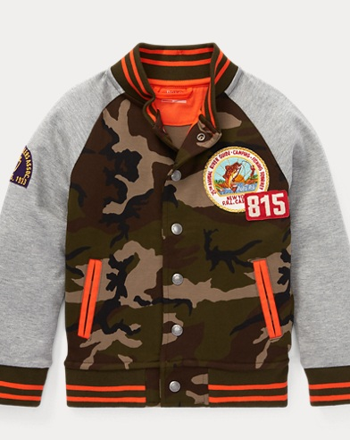 Cotton-Blend Baseball Jacket