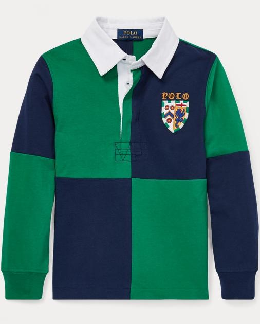 43ae08616932a BOYS 1.5-6 YEARS Camisa de rugby en punto de algodón 1