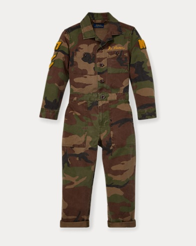 Embroidered Camo Coverall