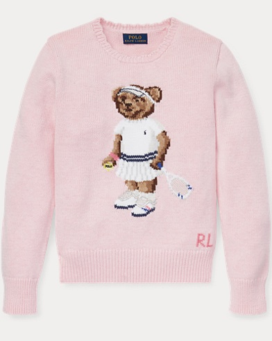 Tennis Bear Cotton Sweater