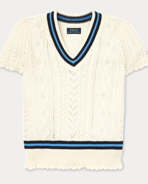 148ef6623ce Cable-Knit Cricket Jumper