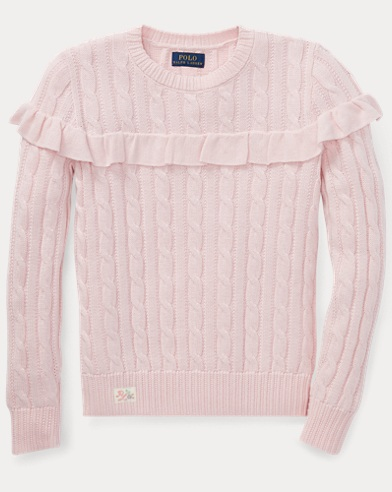 Ruffled Cotton Sweater