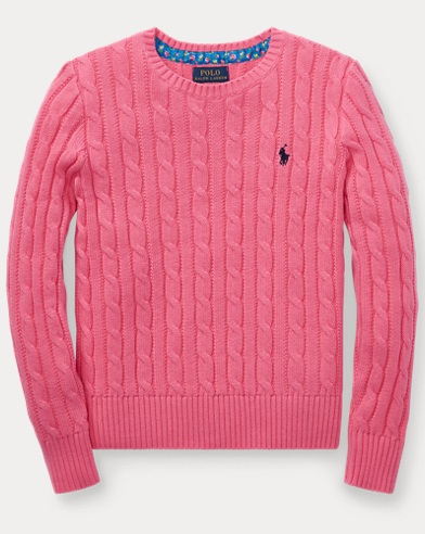 Cable-Knit Cotton Sweater