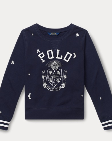 Polo-Pullover aus Atlantic-Terry