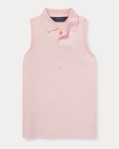 Sleeveless Mesh Polo Shirt