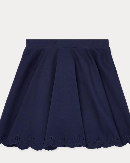 183d0f088 GIRLS 7-14 YEARS Eyelet Ponte Circle Skirt 1