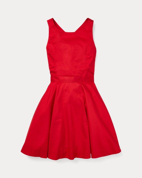 Crossback Cotton Satin Dress