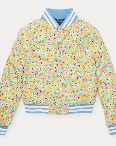 Floral Baseball Jacket