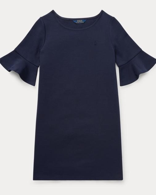 Girls 7-16 Ponte Bell-Sleeve Dress 1
