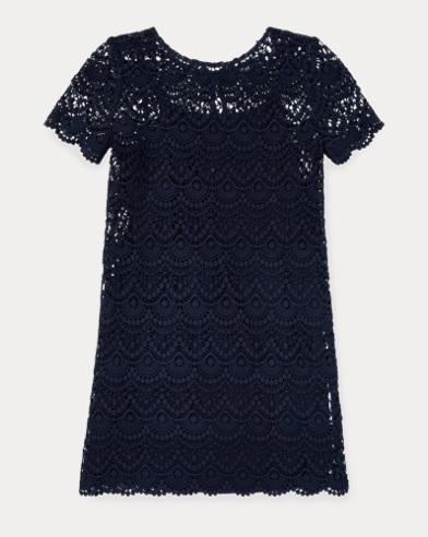 Lace-Overlay Drop-Waist Dress