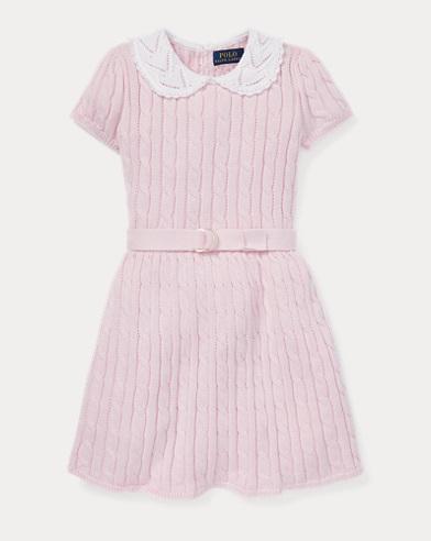 Cable Cotton Jumper Dress