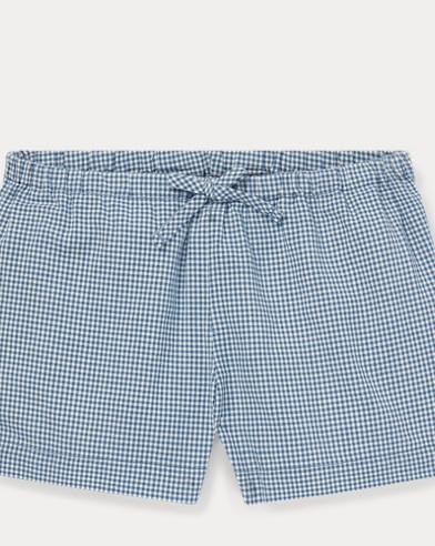 Gingan-Shorts aus Baumwollpopeline