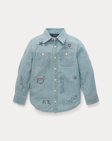 Chambray Graphic Workshirt
