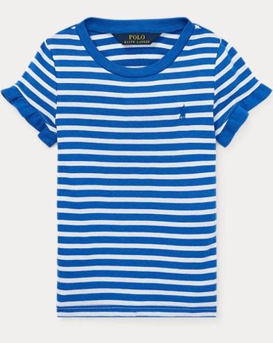 Gerüschtes T-Shirt mit Baumwolle