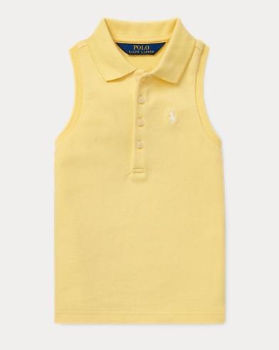 Sleeveless Mesh Polo Shirt