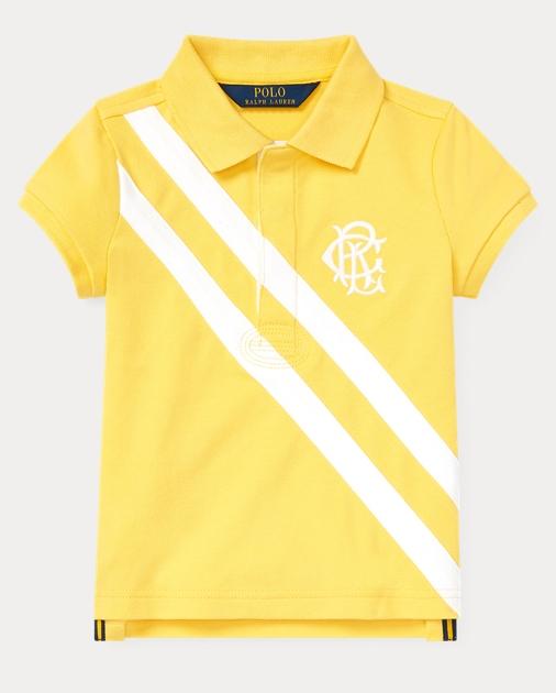 211adc928 Girls 2-6x Stretch Mesh Polo Shirt 1